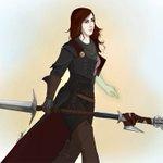 Image for the Tweet beginning: My lady Trevelyan, knight-enchanter, ex-Inquisitor
