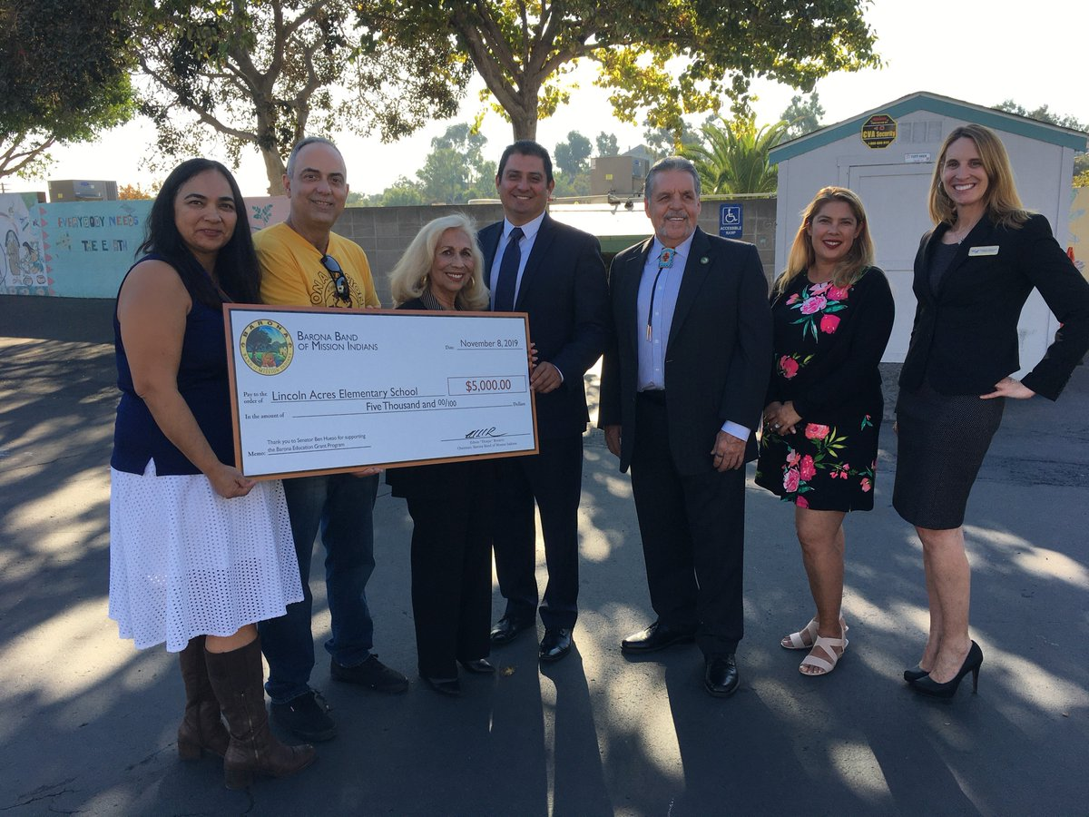 The STEAM+ program at Lincoln Acres Elementary in #NationalCity affords students a truly unique & advanced education, and I was proud to recommend the school for this grant. TY to the Barona Band of Mission Indians for investing in our students' success! #NationalSTEMDay #CALeg