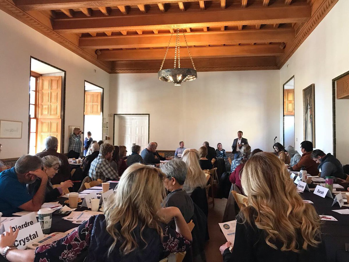 An absolutely wonderful morning talking food and ag at the Resilience in Ag Fall Convening. Folks from large producers to small family farms, from the north to the south, and everything in between shared ideas on keeping ag sustainable for generations to come #NMAg #NMtrue #NMpol<br>http://pic.twitter.com/VzQzwapFji