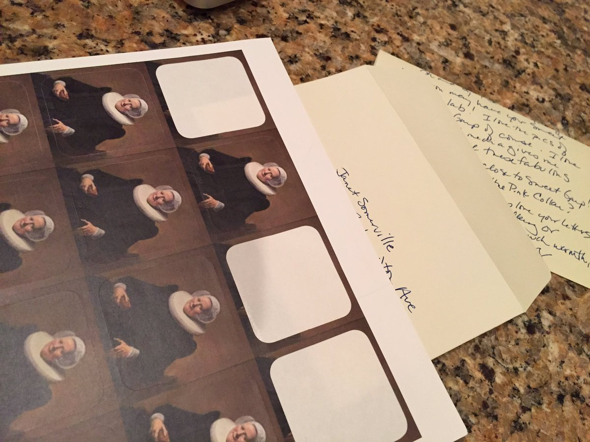 Sending off a letter to @janetsomerville with a stamp of Her Grace to speed it on its way.