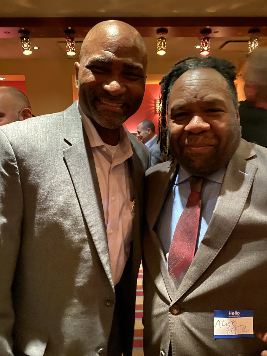 """Found out at #ASCDCEL this past weekend that """"Amistad"""" author @AlexsPate and I grew up in North Philly around the same time! Also, we both have books out soon with @ASCD ! So proud of the roses that grow from concrete in the inner city! Brotherly Love! @ASCDconf #Blessed"""