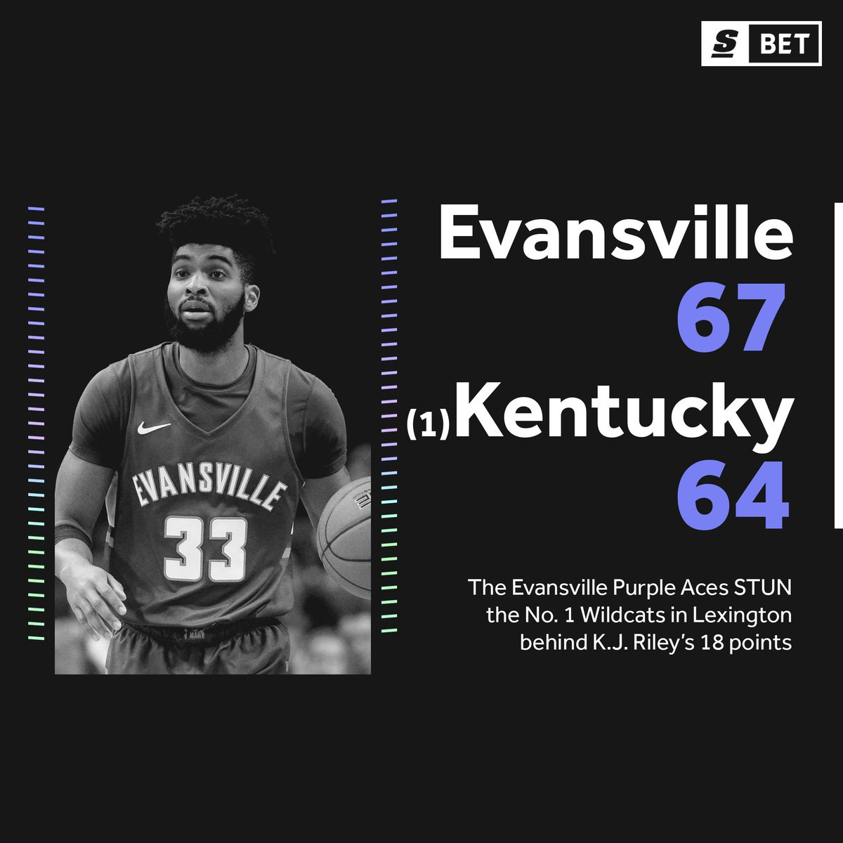 WHAT AN UPSET! Evansville takes down Kentucky as 25-point underdogs. 😳🔥