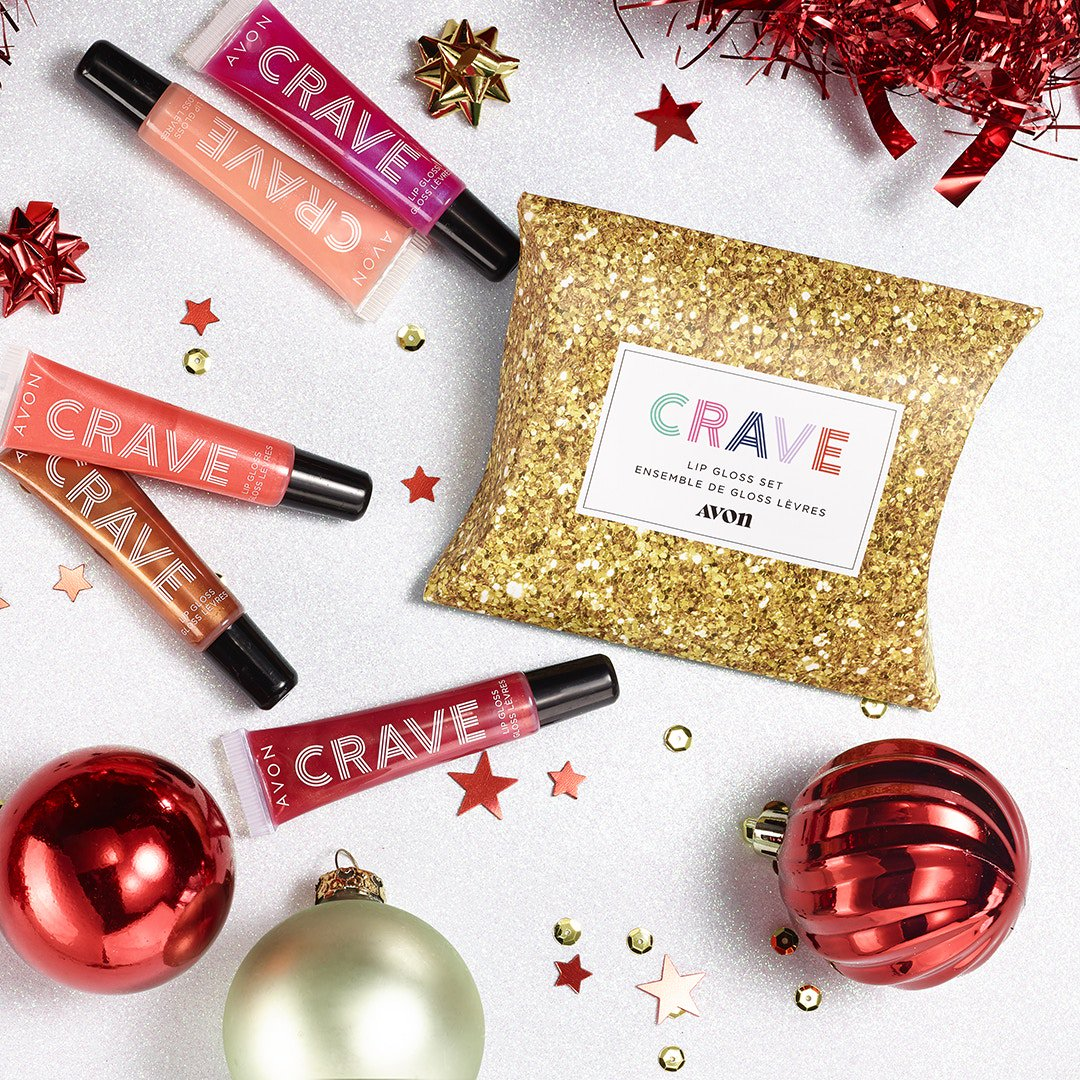 The perfect little pouch to drop in any beauty lovers holiday stocking! 💋 Avon Crave Life is Sweet Lip Gloss Set   #lipgloss #stockingstuffers #giftsforfriends #holidaybeauty