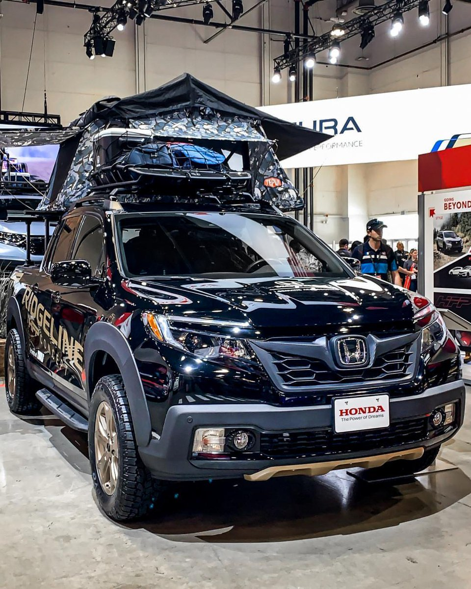 The #HondaRidgeline HFP Concept on display at the #SEMAShow.