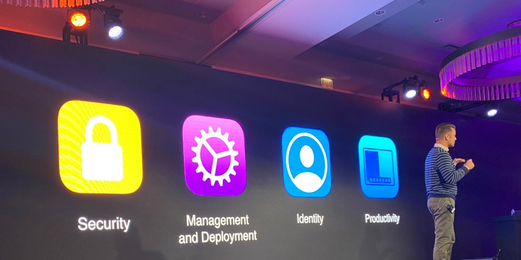 Apple highlights at JNUC 2019 that all Fortune 500 members are using Apple products  by @bradleychambers