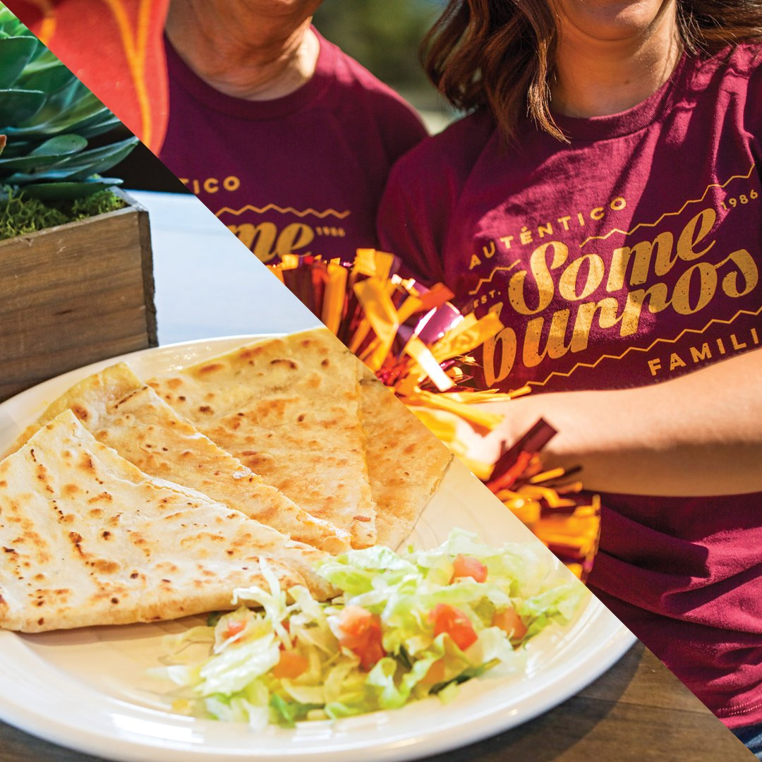🧀🏈 Score $3 Someburros Cheese Quesadillas ALL WEEK (11/13 - 11/19) when you WHISPER Give Em Hell Devils! at any one of Someburros 9 locations! bit.ly/someburros