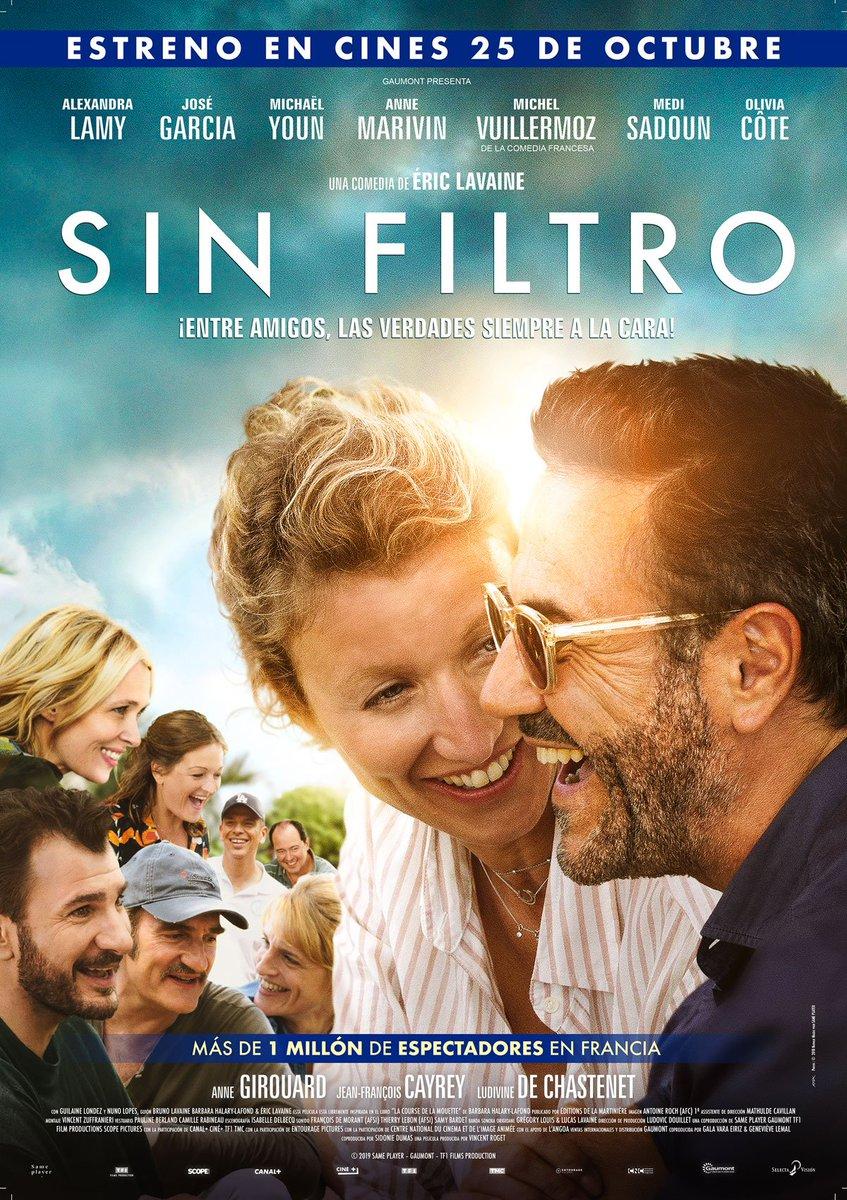 #SinFiltro als @Cinemes_Girona aquesta tarda, una història amb un punt de duresa però amb un plantejament de comèdia molt entretinguda. Amb l' @Alexandra_Lamy sòlida i el @JoseGarciaOff molt divertit. Mes félicitations!