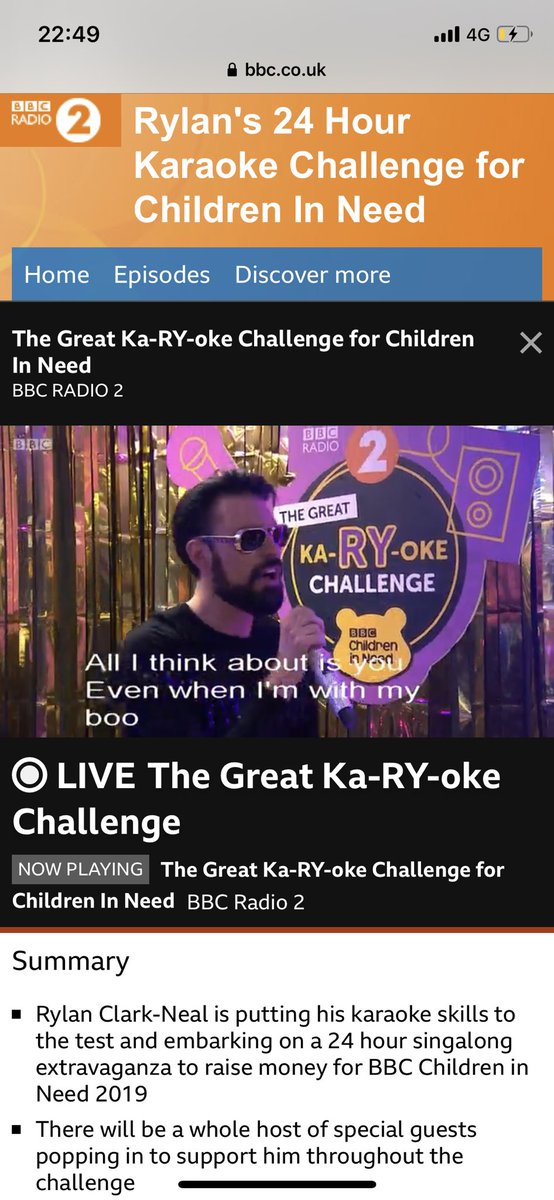 Keeeeeeeeep singing....He's still going strong! Please if you can support @Rylan in his 24 #KaRYoke record for @BBCCiN bbc.co.uk/events/ewhp8g/…