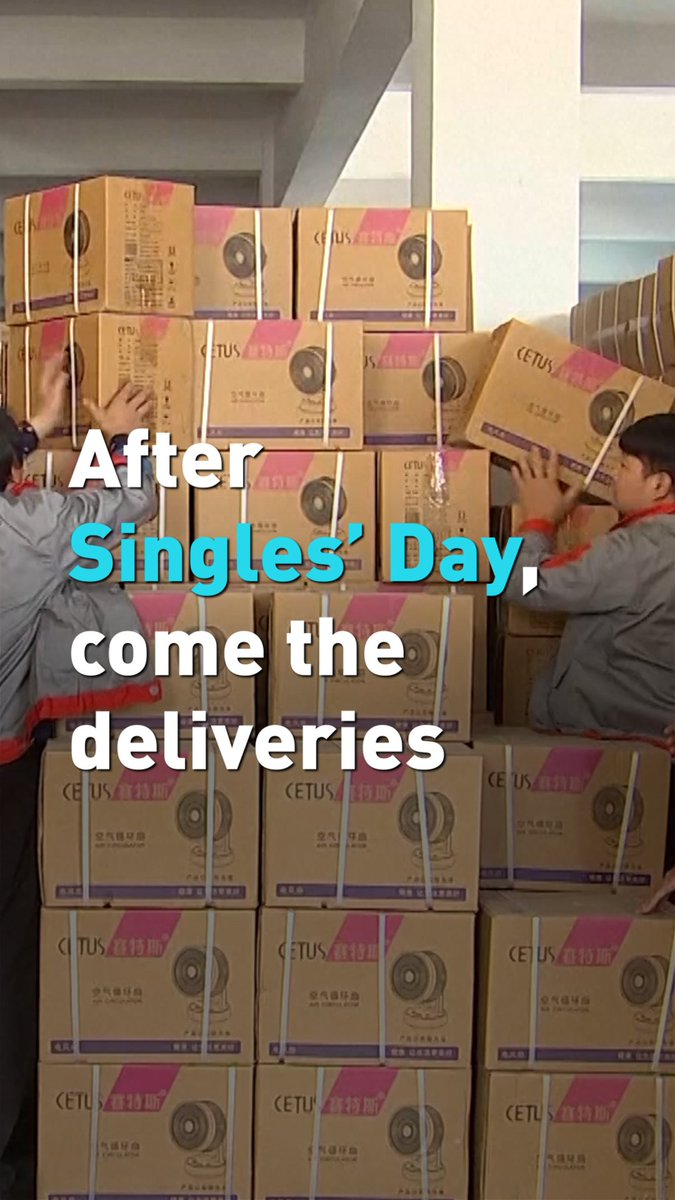 After all the purchases on Singles' Day, China's biggest online shopping festival, comes the deliveries. Over 2.8 billion packages expected to be delivered Nov.11-18. From high-speed trains to airplanes, parcel delivery is in full swing. Did you buy anything? Tell us what!
