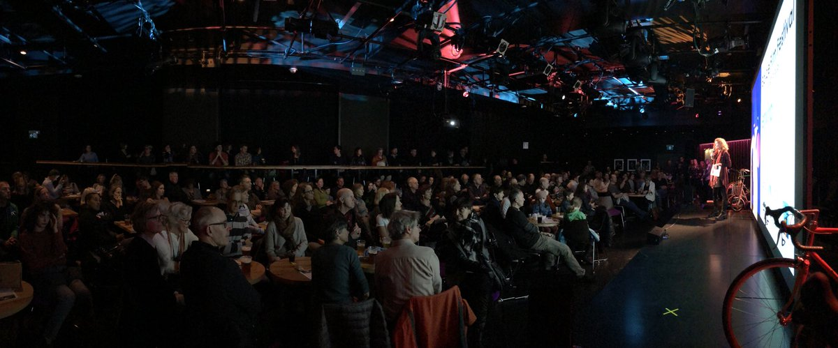 My! This is what sold out looks like! What a great crowd 👏🙌🤩🍿🎟📽🚲 #bicyclefilmfestival https://t.co/UyBaEMdtGK