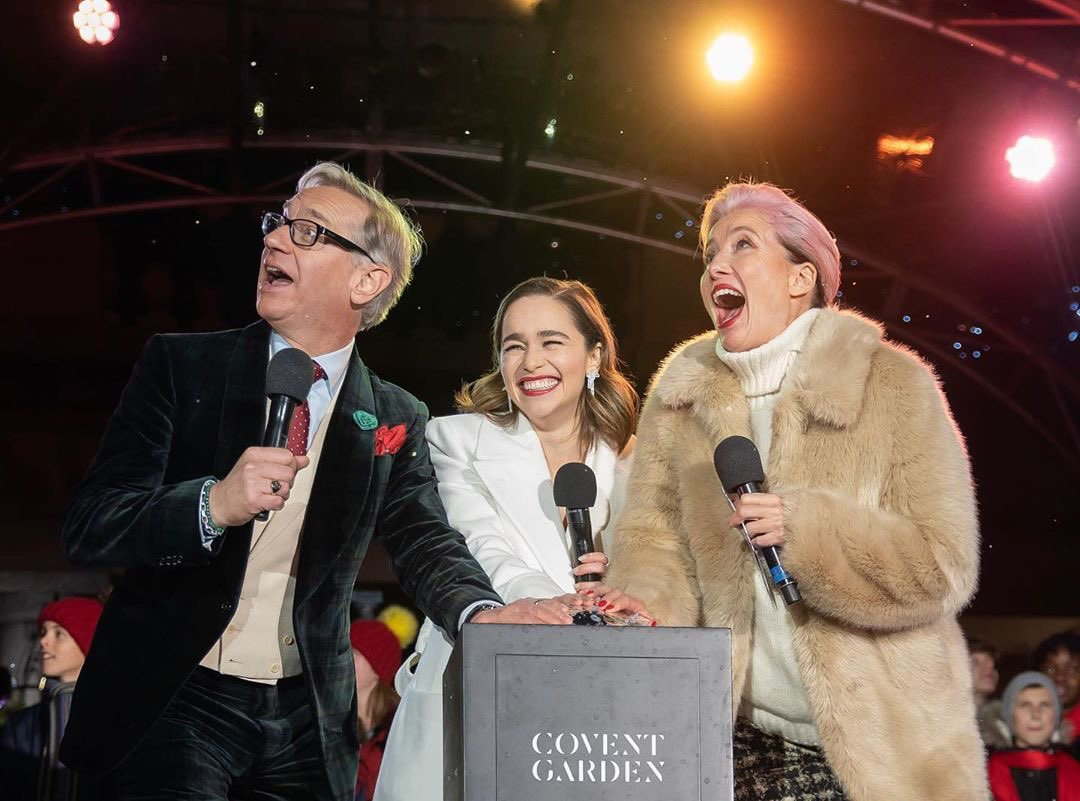 Emilia Clarke, Dame Emma Thompson and Director Paul Feig starting this holiday season in London (via jeffmo69)