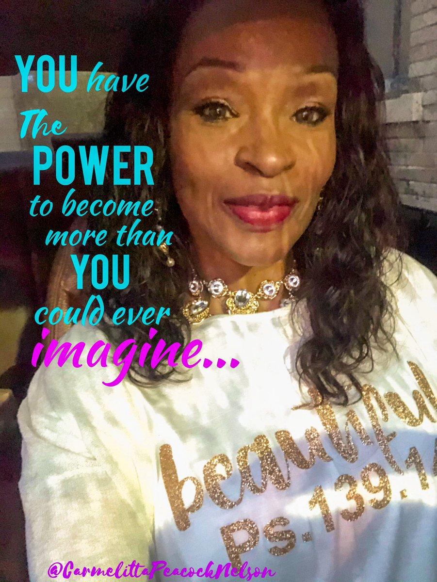 #PowerToBecomeMore #Powerful #GreaterWorks #PowerBelongsToGod #Confidence #DreamForward #BePower #Empowered https://t.co/twrXDx35EL