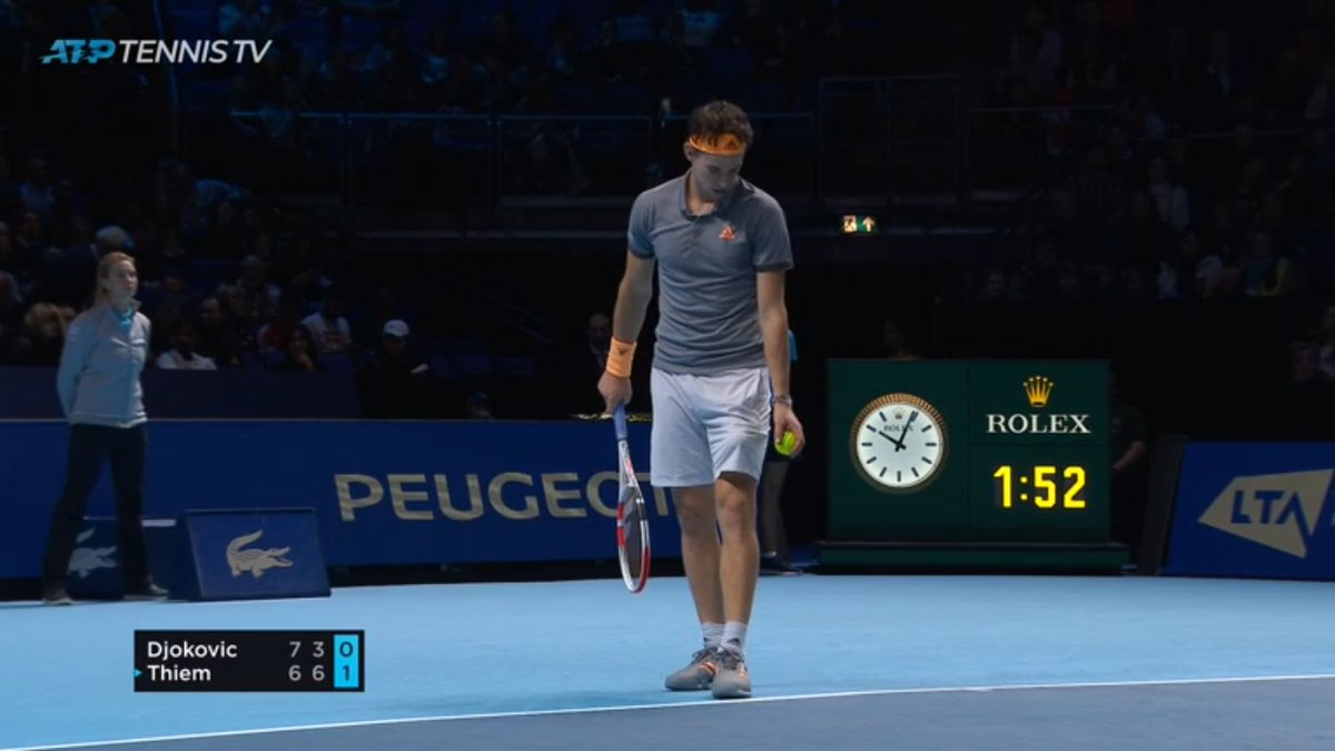 @ThiemDomi #KingInWaiting, oh how he thrashed #Nole was embarassing: #Djokovic lost his first tie-break since #Wimbledon 3rd round today in 3rd set decider!  Was that a magnificent performance of performance play @AndrewCastle63?   #ATPFinals #NittoATPFinals https://twitter.com/atptour/status/1194389363674755073 …