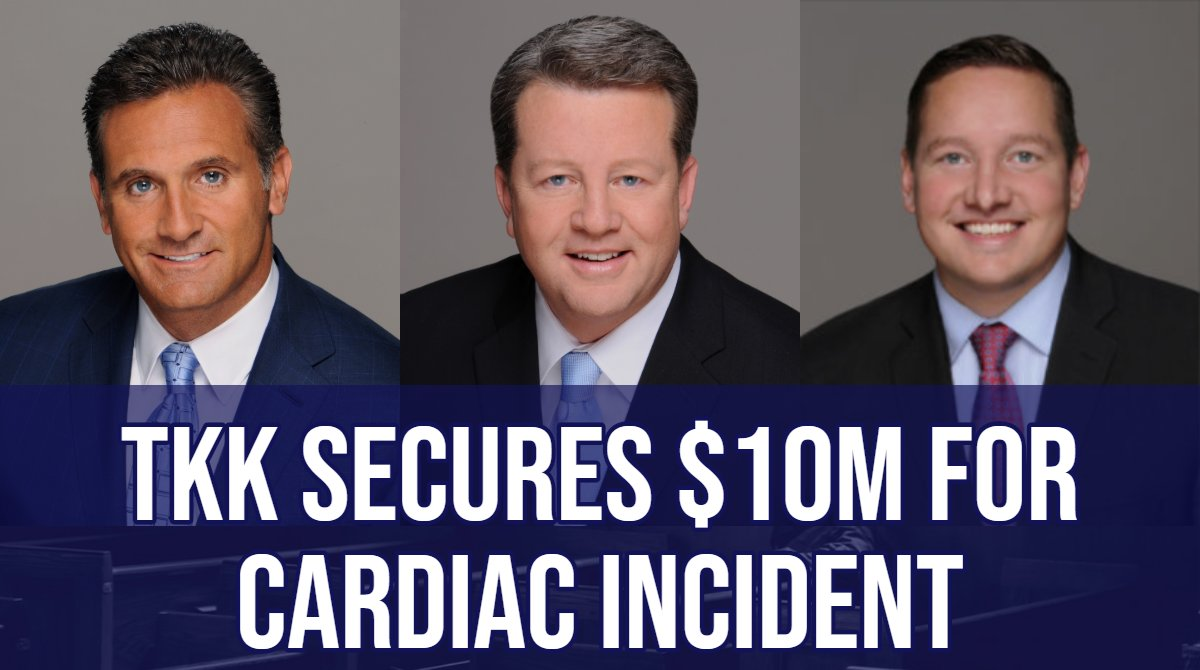 BREAKING: A jury awarded $10 million in a wrongful-death case involving a 39-year old man who died after going into cardiac arrest. TKK's client was represented by Dan Kotin, Bob Geimer, and Phil Terrazzino. Read more here:https://www.tkklaw.com/jury-gives-10m-for-cardiac-incident…