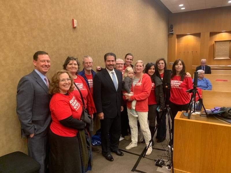 @NRA To my fellow @MomsDemand volunteer who said the NRA is running scared to have sent a paid lobbyists to speak today against a resolution proposed by our County Commissioners to support #backgroundchecks on all gun sales: YEP. They're scared. TY @AdrianGarcia for taking a stand.