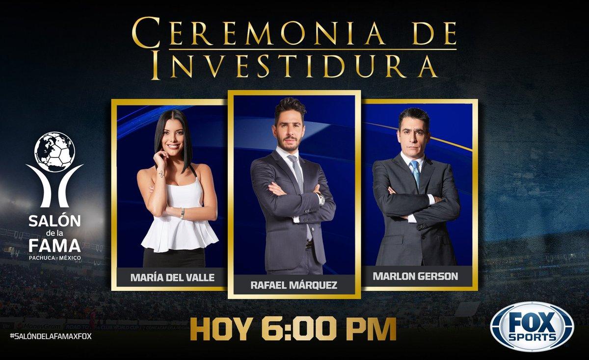 Nos vemos a la 6:00 de la tarde en la Novensd Investidura del Salón de la Fama por @FOXSportsMX   @mariadelvalle16 @GersonMarlon   #SalondelaFamaxFOX