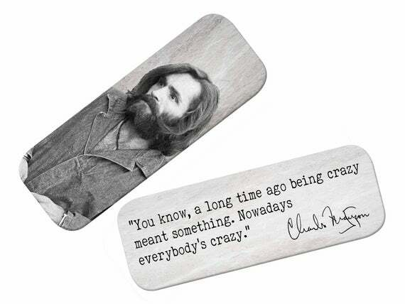 This Charles Manson bookmark would be perfect for your next true crime book   #bookmark #serialkiller #murderino #truecrime #murder