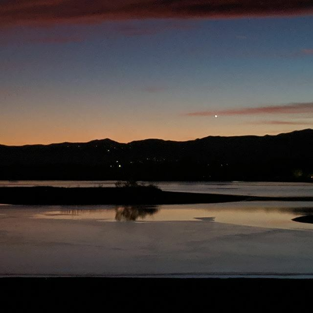 Mercury may be gone from the dusk sky, but Venus is still shining low to the west.