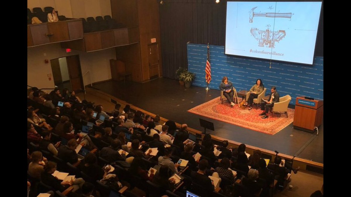 Very full house at Georgetown Laws #ColorofSurveillance conference last week where I spoke on targeted surveillance of poor and homeless