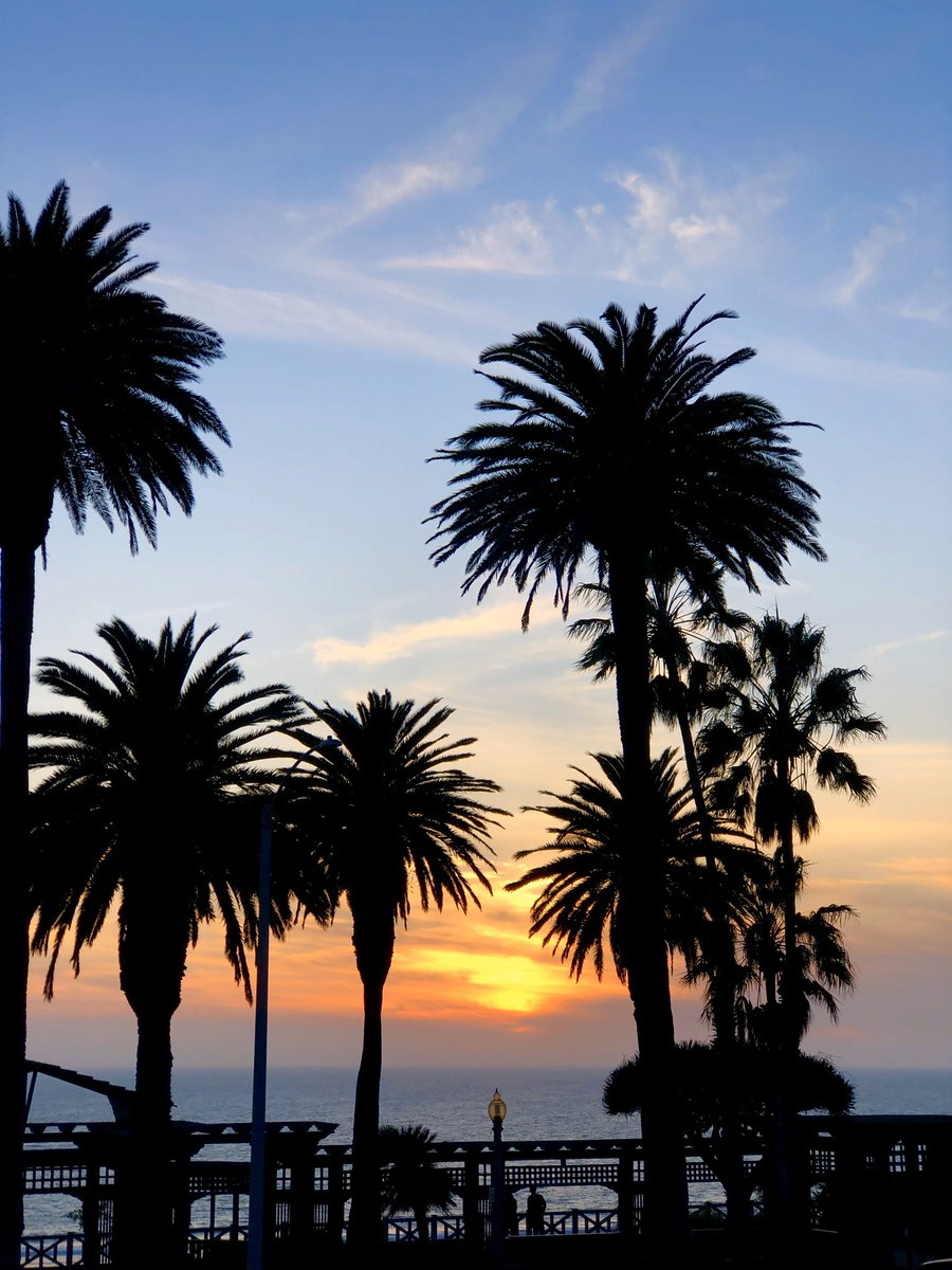 Tonight's sunset over Santa Monica Bay. Malibu is to the right. 🌴🌤⛱ #MyDayInLA #California #TuesdayThoughts