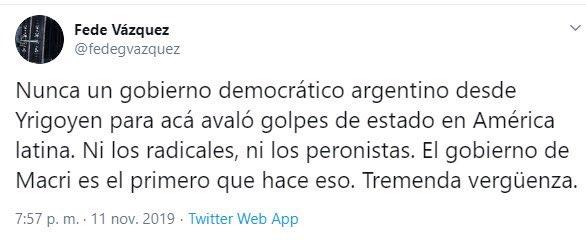 Bueno, Perón fue parte del golpe a yrigoyen y el del 43 y el del 66 sin mencionar su apoyo a Pinochet o a Stroesner y su amistad con Hitler Mussolini y Franco. Pavadas.