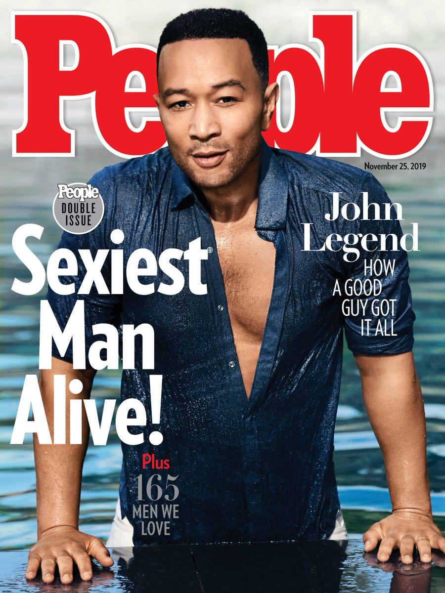 John Legend Is People's 'Sexiest Man Alive' 2019—and Chrissy Teigen's Reaction Is Priceless
