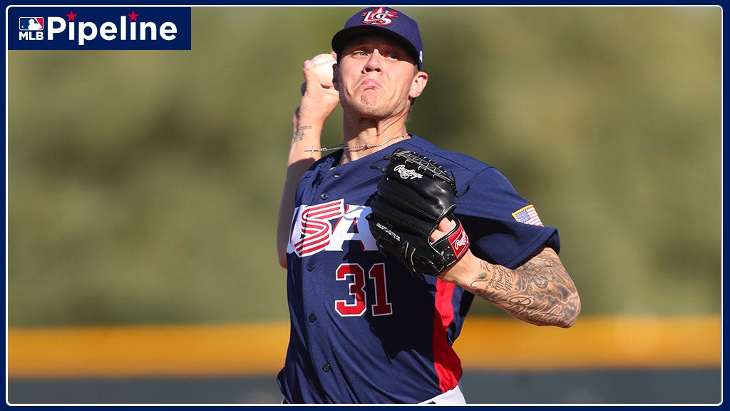 #RedSox No. 5 prospect Tanner Houck retired 14 in a row at one point, but #TeamUSA ultimately fell to Australia in the Super Round of the #Premier12 Tournament: atmlb.com/2KiLhyh
