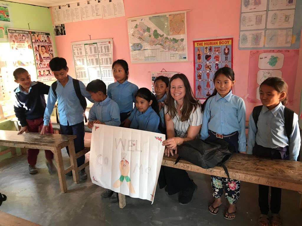 I am currently visiting @teamUWS schools in Nepal to discuss #inclusion #genderequity #menstruation and how we can help ensure all children can access a good education. More to follow!