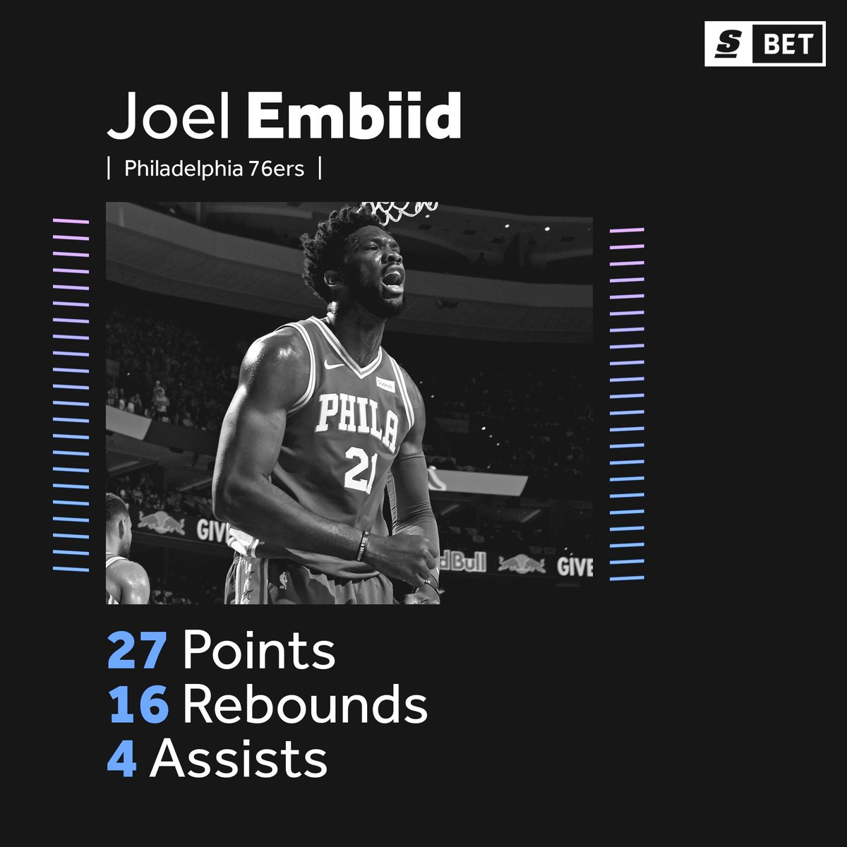 Joel Embiid leads the Sixers to a clutch 98-97 win over the Cavs. 👏 (via @theScoreBet)