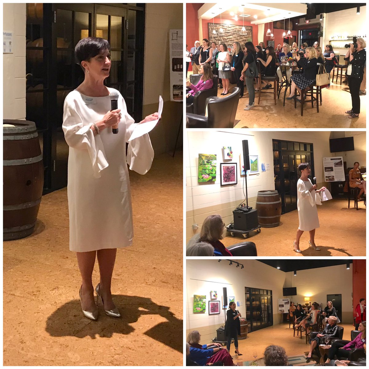 Star-studded group at RL Central Florida's Quantum Leap party. Pam Goodman introduced many future Florida leaders.   #Shesthechange