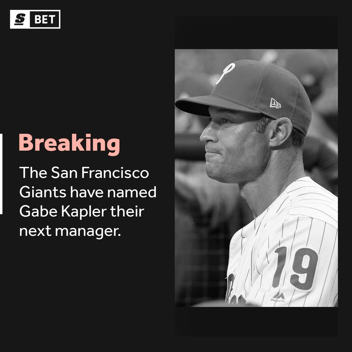 Gabe Kapler has been named the @SFGiants manager. ⚾️thesco.re/2pcbwPq