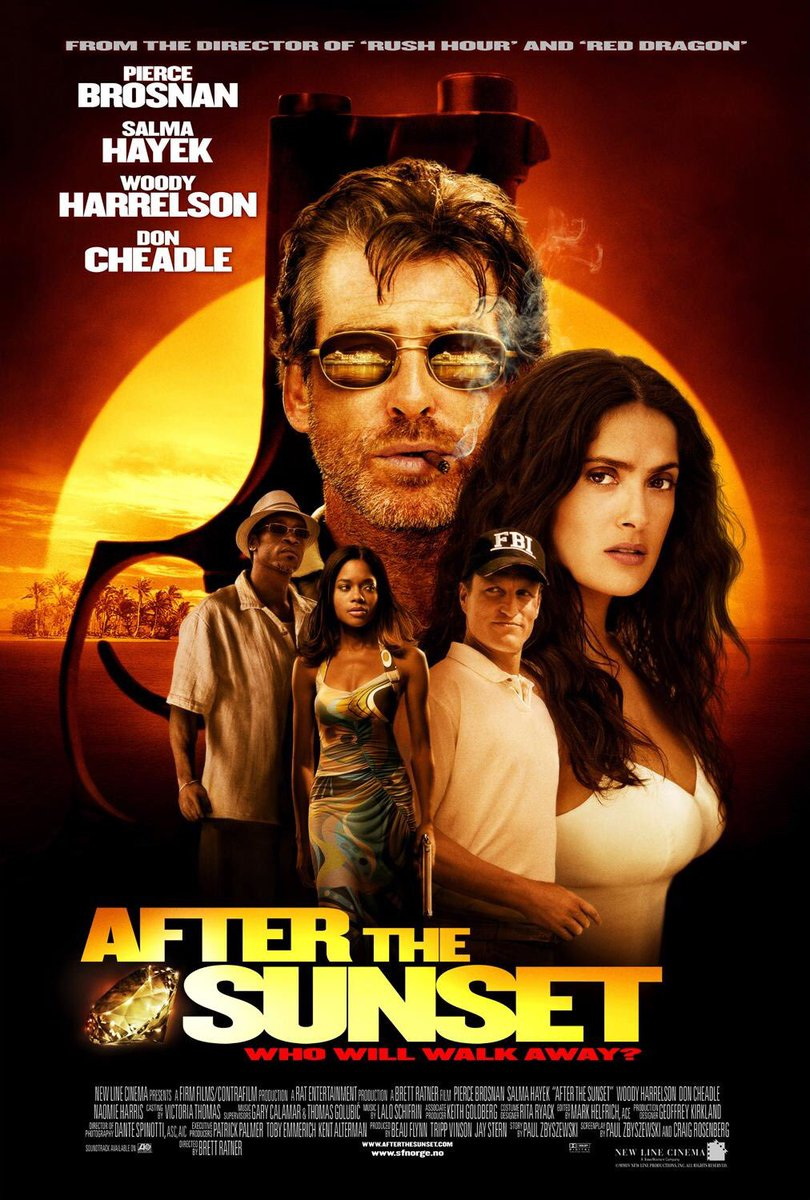 🎬MOVIE HISTORY: 15 years ago today, November 12, 2004, the movie 'After the Sunset' opened in theaters!#PierceBrosnan @salmahayek #WoodyHarrelson @DonCheadle #NaomieHarris #RexLinn #MykeltiWilliamson @RealAlanDale #TroyGarity #ObbaBabatunde #MichaelBowen #RussellHornsby