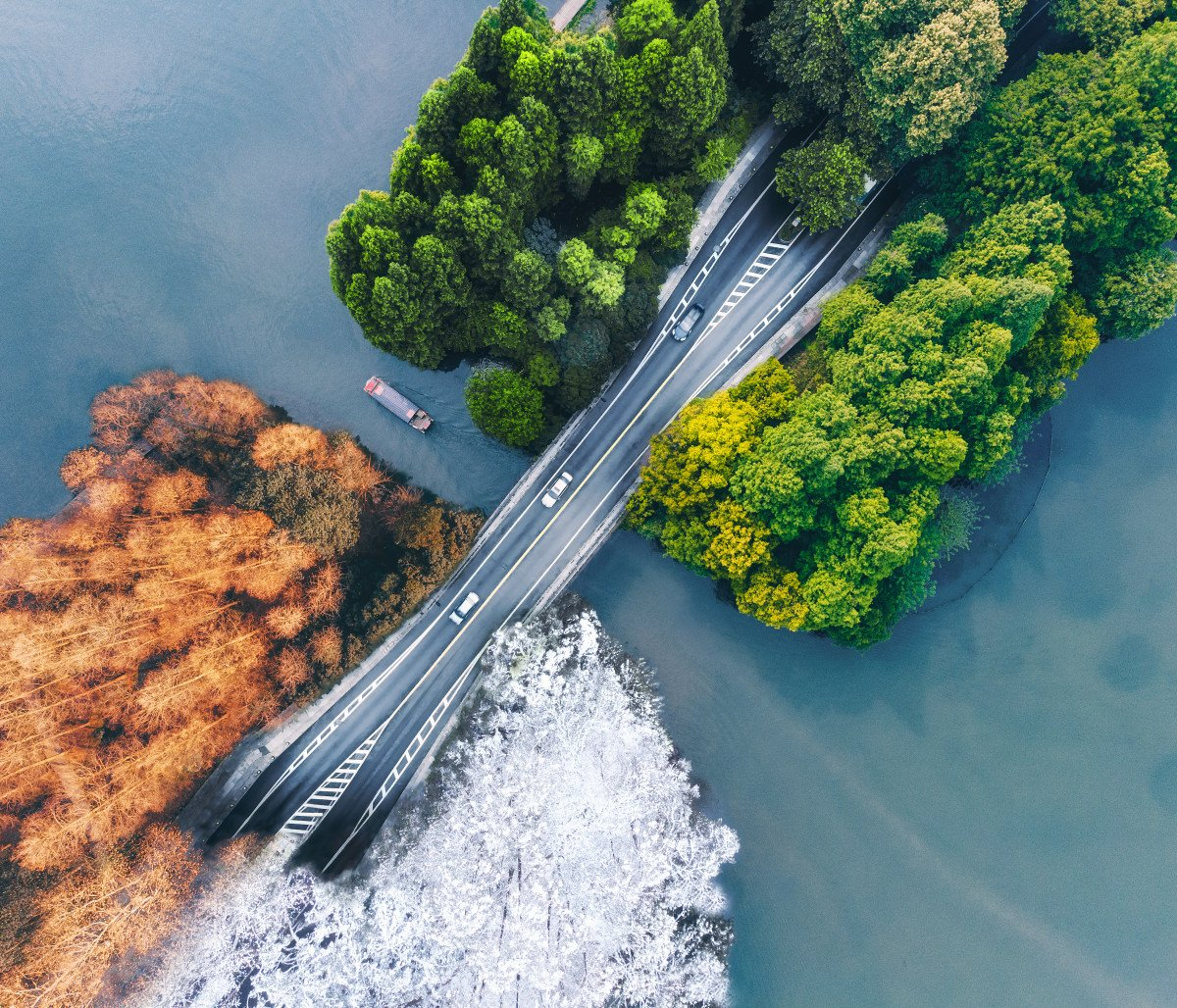 Today's awesome #POTD is from Luxiang Zhu who combined the 4 seasons into one awesome shot using a #MavicAir! 📷👇  Learn More: http://bit.ly/DJI-M-Air