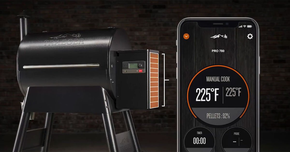 Traeger WiFi grills monitor your wood pellet supply with an $80 sensor