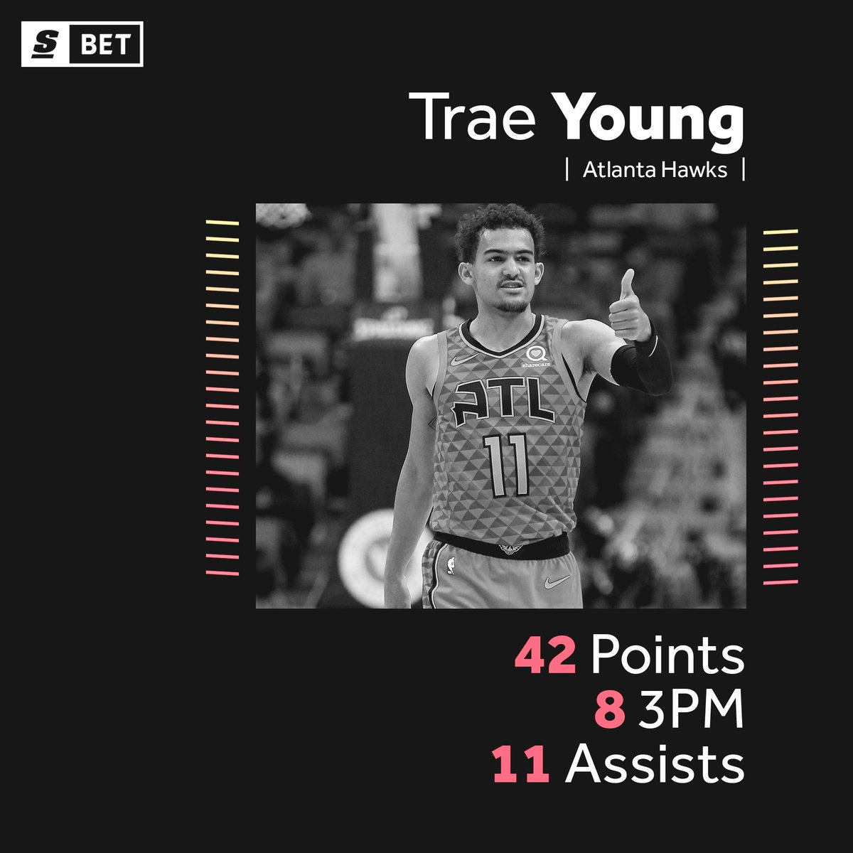 Season-high 42 PTS and the W for Trae Young. ❄️