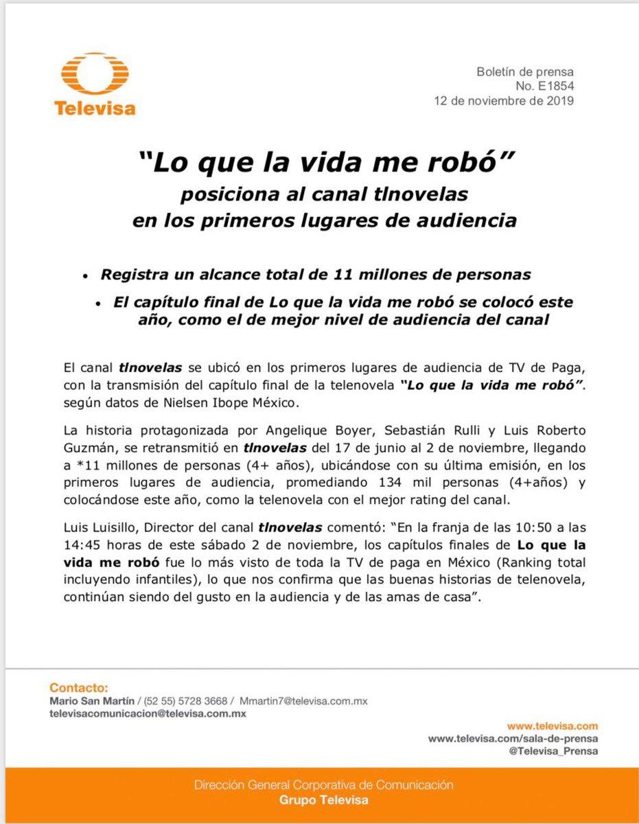 👏🏻👏🏻👏🏻👏🏻#loquelavidamerobo @Anboy88 @sebastianrulli @luisroguzman @Televisa #Televisa @LuisLuisillo #tvdepaga @tlnovelastv ⬇️⬇️⬇️⬇️