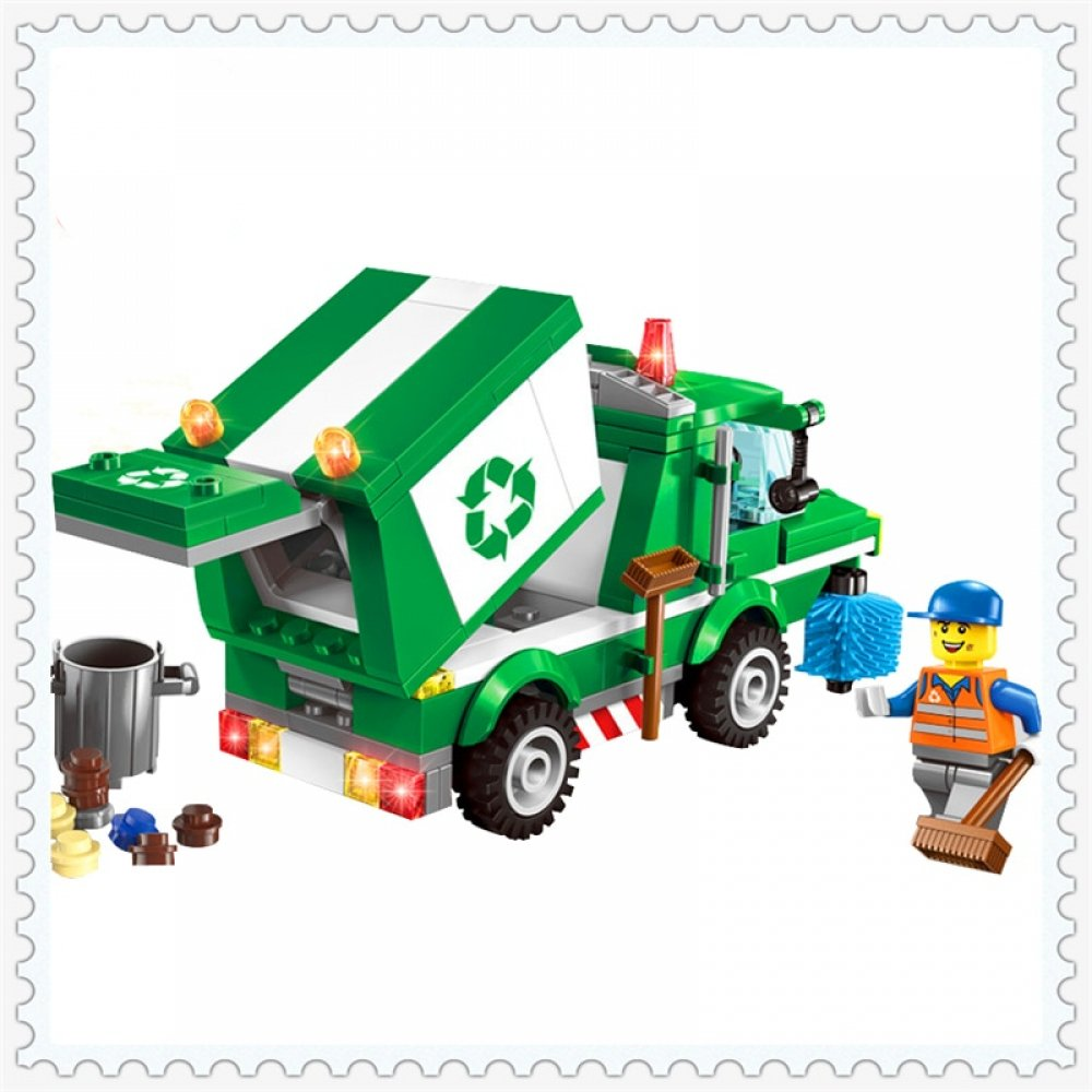#craft #fun City Workers : Recycling Truck and Crew