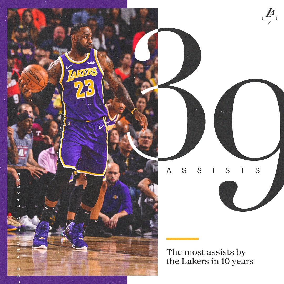 Most dimes by the #LakeShow in a decade.   @KingJames: 💰💰💰💰💰💰💰💰💰💰💰 @RajonRondo: 💵💵💵💵💵💵💵 Avery Bradley: 💲💲💲💲💲 @AntDavis23: 💸💸💸💸 @JaValeMcGee: 🤑🤑🤑 @DGreen_14: 💰💰💰 @ACFresh21: 💵💵💵 @QCook323: 💲💲 @DwightHoward: 💸