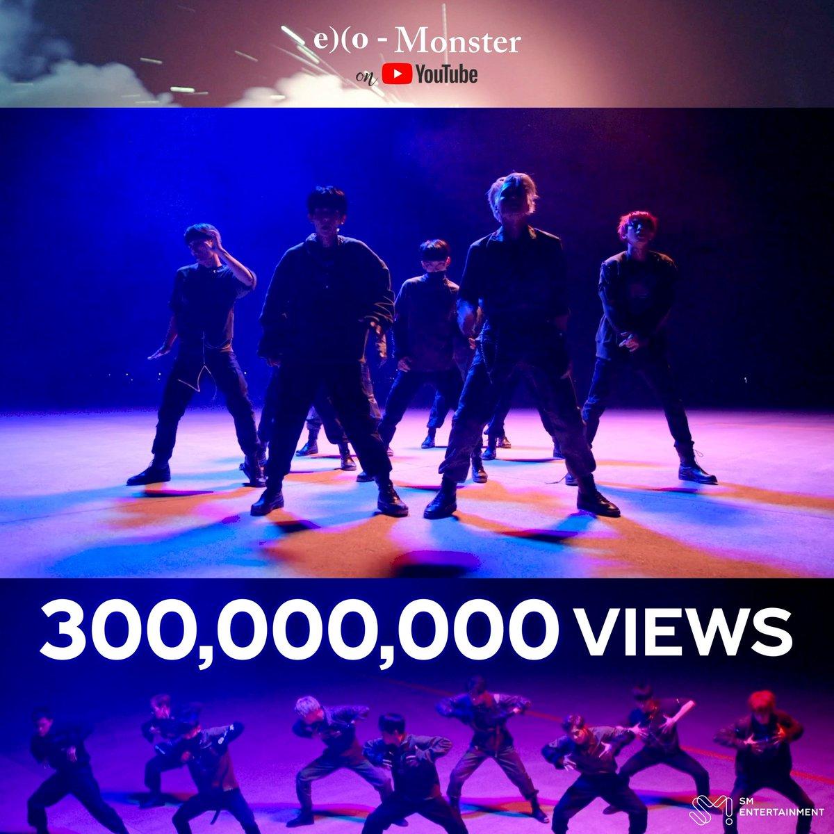 EXO의 'Monster' 뮤직비디오가 유튜브 조회수 3억뷰를 돌파했습니다! 👏 EXO's 'Monster' MV has surpassed 300 Million views on YouTube! 👏 🎬 youtu.be/KSH-FVVtTf0 #어디에도_없을_완벽한_EXO #엑소 #EXO #weareoneEXO #몬스터 #Monster
