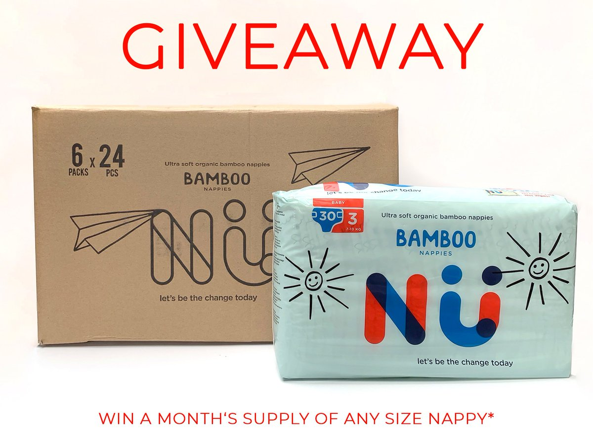 Nü Bamboo Nappy Giveaway  WIN A MONTHS SUPPLY FREE Certified Compostable & Certified Biodegradable Packaging - Like, RT, Tag 3 Friends & Share Post To Enter   Winner Drawn At End Of November!!! #BeTheChange  #plasticpollution  #plastic  #zerowaste  #ecofriendly  #saynotoplastic
