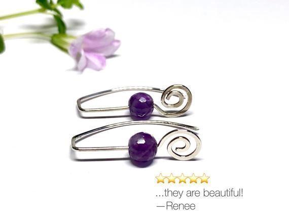 Amethyst Celtic spiral earrings