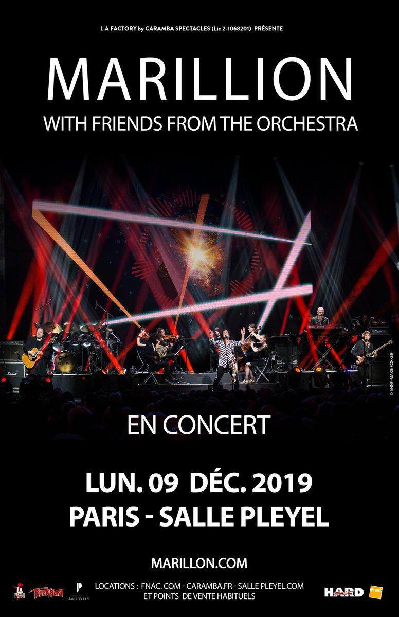 ⚡️BONNE NOUVELLE⚡️ Nous venons de libérer 80 places pour le concert de @MarillionOnline le 9 décembre à la @sallepleyel  Disponibles sur notre billetterie !  > https://t.co/I8VuBVhKhZ  PLUS D'INFOS