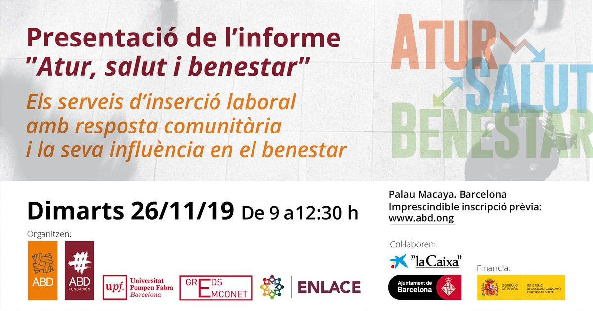 test Twitter Media - La #desocupació no sols es tracta d'una situació d'absència de #treball  El 26 de novembre presentarem un estudi sobre l'atur de llarga durada a #Barcelona. NO T'HO PERDIS ‼️ ‼️  📆 26/11 📌 Palau Macaya  INSCRIU-TE AQUÍ ➡️ ➡️ https://t.co/NpguJyW9F0 https://t.co/dT1vycZeiq