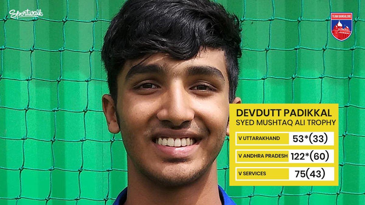 💙 YOUNG GUN! 19-year old Devdutt Padikkal has started off the Syed Mushtaq Ali Trophy on a bright note.Photo by KSCA | #syedmushtaqalitrophy #devduttpadikkal #mayankagarwal #rcb #klrahul #manishpandey #BCCI #VijayHazareTrophy #karnatakacricket #kpl #teambangalore #Sportwalk