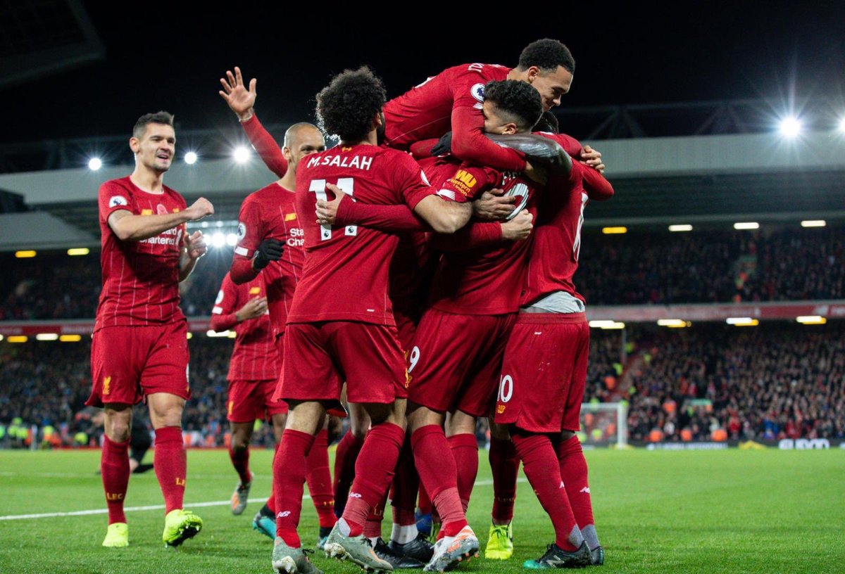 Liverpool in the Premier League this season: 👤 12 Games ✅ 11 Wins ❌ 0 Losses ⚽️ 28 Goals 📈 34 points from a possible 36 ⛔️ 10 Goals Conceded 🏆 8 points clear at the top ⚠️ Undefeated Mentality monsters 👊 #LFC