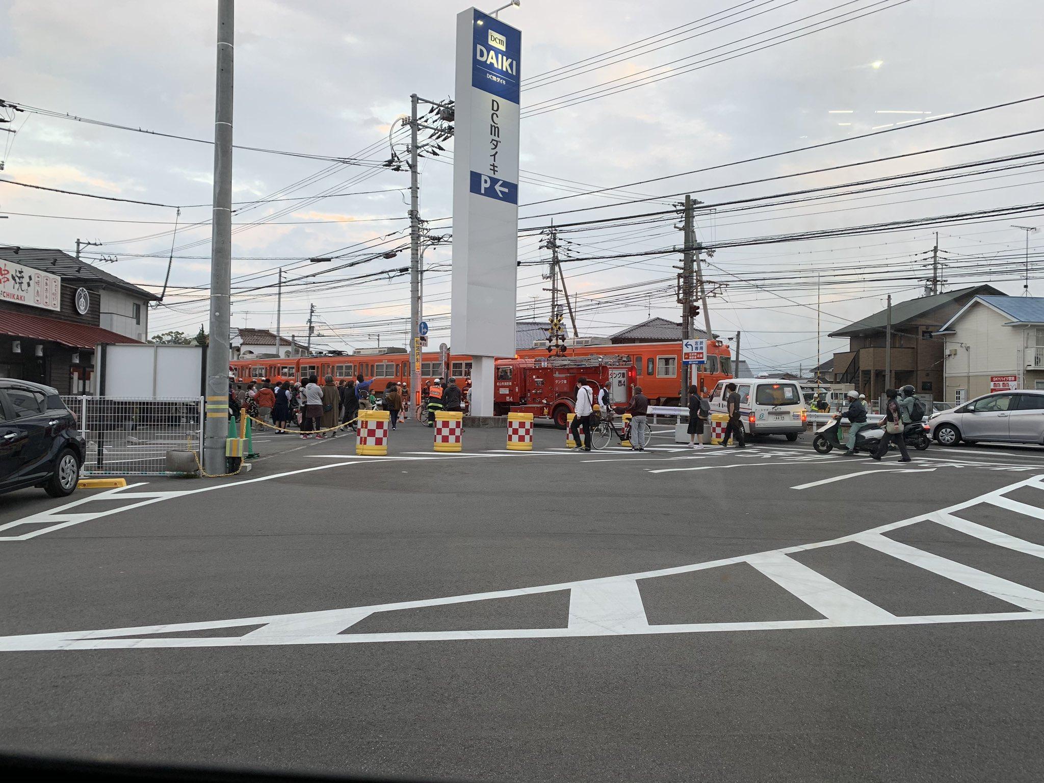 伊予鉄郡中線の土居田駅~余戸駅間で人身事故の現場画像
