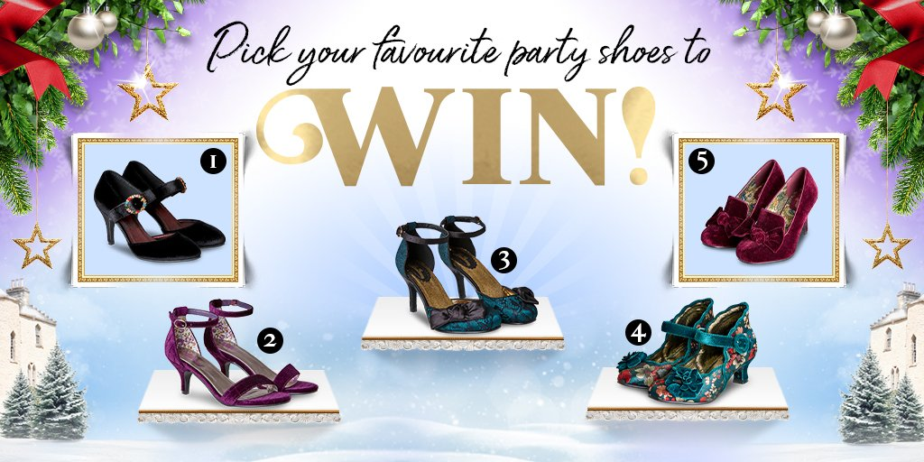 It's competition time!  Simply RT, like this post and pick your favourite party shoes numbered 1-5 below and you could #WIN them!  T&C's apply - Good luck!   #lovejoebrowns #joebrowns #giveaway #win #competition #prize #competitiontime #partywear #partyshoes<br>http://pic.twitter.com/afSZTj3yPP