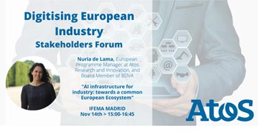 Nuria de Lama, responsable de Programas Europeos en #AtosResearchandInnovation y Miembro del...