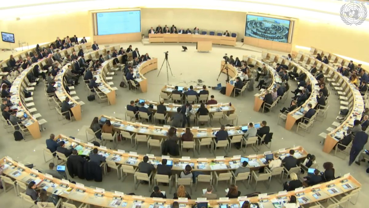 #UPR34: @SwedenGeneva expresses concerns over the #HumanRights situation in #Egypt and recommended:   Ensure full enjoyment of rights for women and girls   Stop restrictions to civic space, including asset freezes and travel bans  #EgyptListenNow @Mozn @NazraEgypt<br>http://pic.twitter.com/AnMgUtQdpY