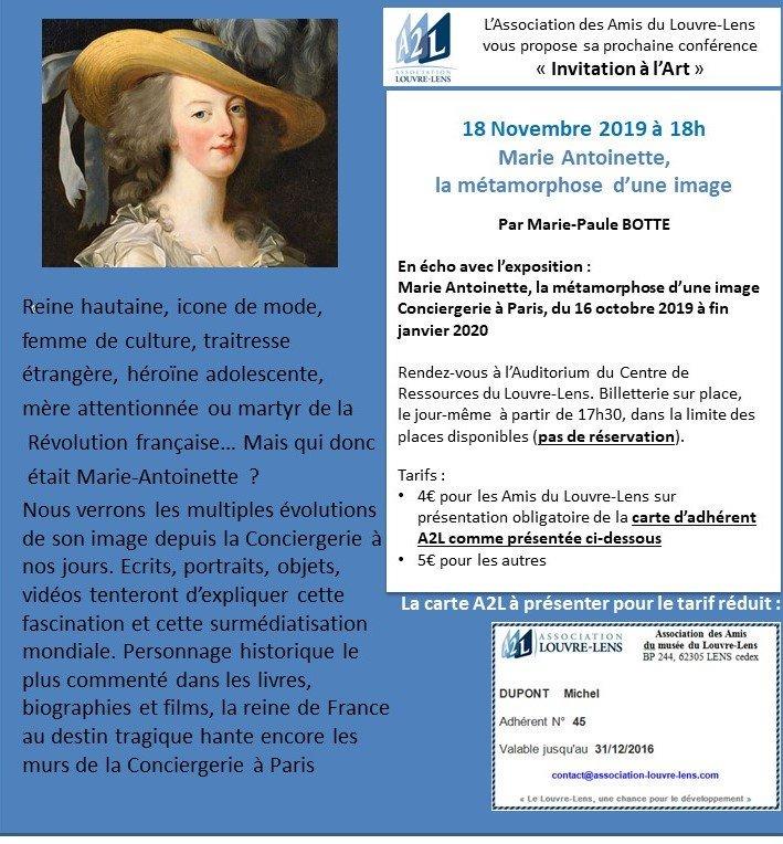Envie de connaître Marie-Antoinette... c'est Lundi prochain, conférence au Louvre-Lens #louvrelens... on vous attend, que vous soyez adhérent(e) ou pas 😉😉